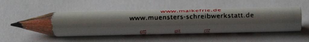 Gehört zum Selbstmarketing: Werbeartikel wie dieser Bleistift aus Münsters Schreibwerkstatt