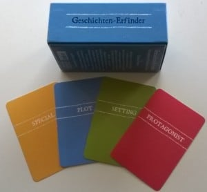 Geschichten-Erfinder-Karten aus der Edition Büchergilde: Kartenspielerei für Kreative Köpfe in Schreibwerkstätten oder im stillen Kämmerlein