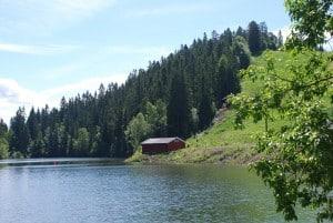 Norwegen_Oslo_Hütte am See