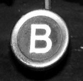 Der Buchstabe B aus den Wochen-Schreibtipps fürs Kreative Schreiben