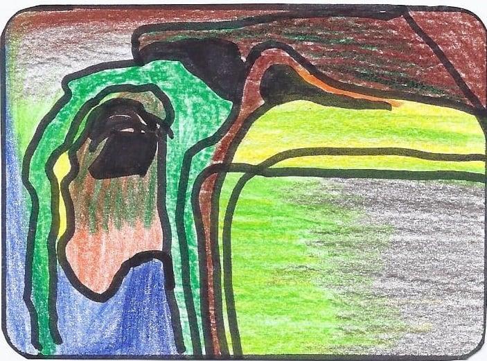 Vogel mit Rucksack - mit abstrakten Bildkarten ins Kreative Schreiben kommen