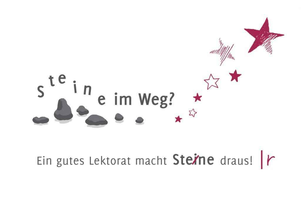 Postkarte-Lektorat-Steine-Sterne-Maike-Frie