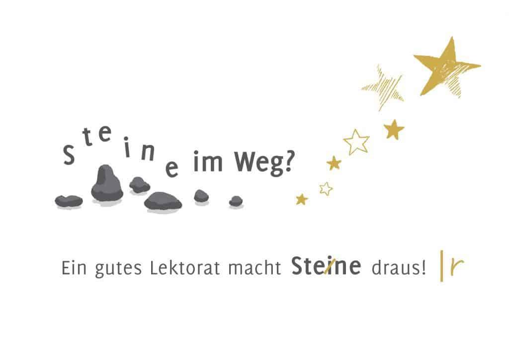 Postkarte-Lektorat-Steine-Sterne-Maike-Frie-Weihnachten