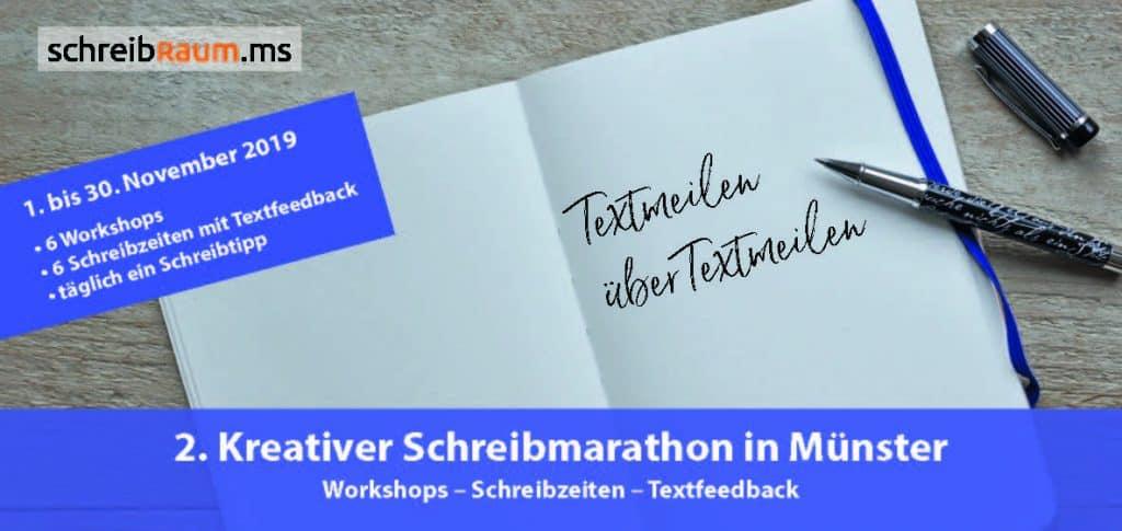 Flyer-Schreibmarathon-Schreibraum-Münster-2019-Titel