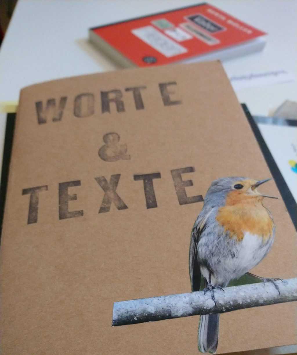 Schönes Notizbuch bei den Textperimenten im Kreativ-Haus Münster