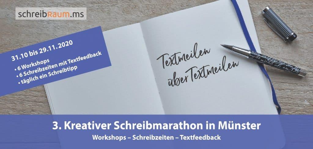 Der 3. Kreative Schreibmarathon im Schreibraum Münster startet Ende Oktober 2020